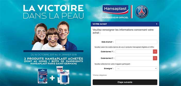 www.lavictoiredanslapeau.fr - Jeu Hansaplast Paris Saint-Germain