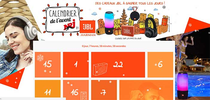 jeu calendrier de l 39 avent nrj 2017. Black Bedroom Furniture Sets. Home Design Ideas