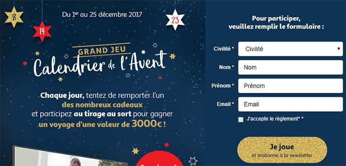 Calendrier Avent Auchan.Www Auchan Fr Jeu Calendrier De L Avent Auchan