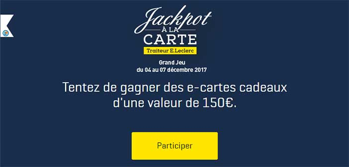 www e jeu jackpot la carte e leclerc bestofconcours. Black Bedroom Furniture Sets. Home Design Ideas