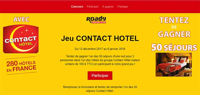 Grand jeu roady contact h tel bestofconcours for Contact hotel