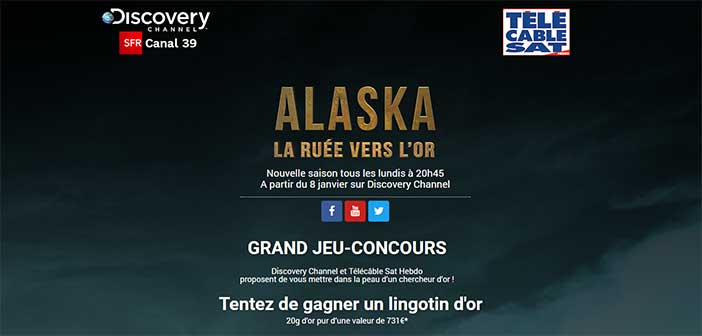 jeuconcoursdiscoverychannel.com - Jeu Alaska : La Ruée vers l'Or