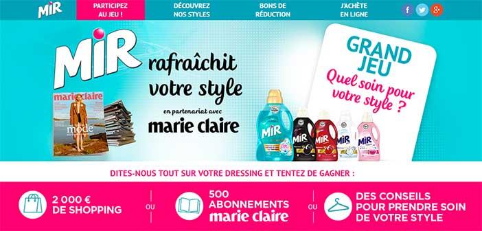 www.miretvotrestyle.com - Grand Jeu Mir Quel soin pour votre style