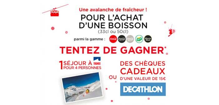 www.avalanchedefraicheur.fr - Jeu Coca-Cola Une avalanche de fraîcheur