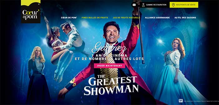 www.coeurdepom.com - Jeu Coeur de Pom The Greatest Showman
