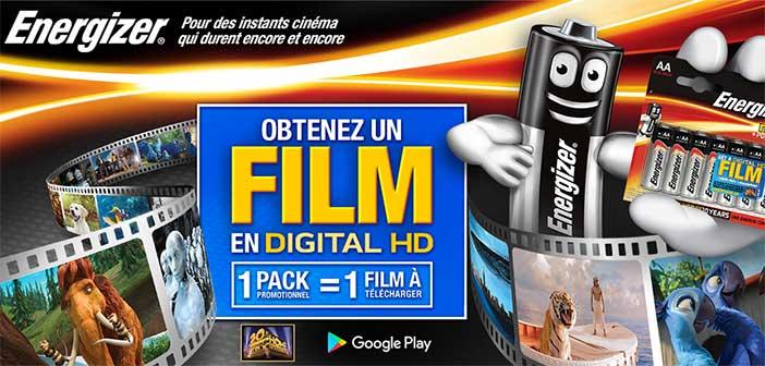 www.energizermovies.com - Offre Energizer Obtenez un Film Digital HD