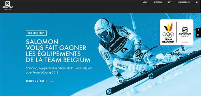 www.salomon.win-in-sports.com - Jeu Salomon Team Belgium