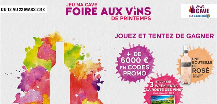 jeu ma cave foire aux vins de printemps. Black Bedroom Furniture Sets. Home Design Ideas