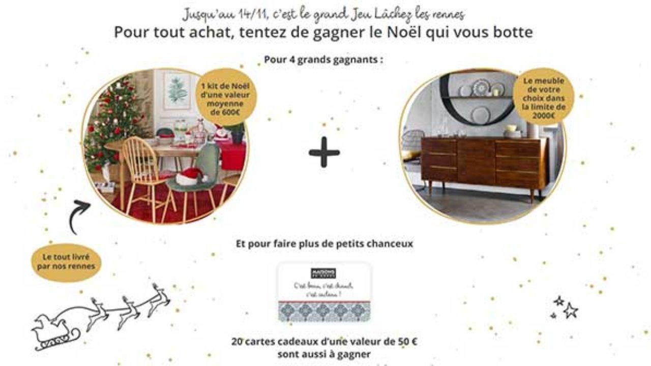 Www Maisonsdumonde Com Jeu Lachez Les Rennes Maisons Du Monde Bestofconcours