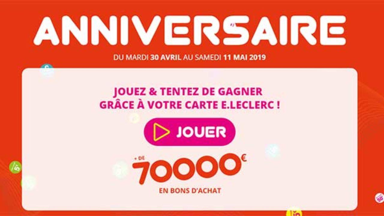 Www Anniversaire Flash Com Jeu Anniversaire Flash Leclerc 2019 Bestofconcours